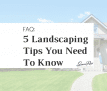 Guide: Landscaping 101 for Homeowners